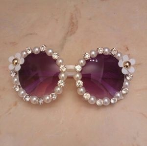 Accessories - Brand new pearl and rhinestone sunglasses